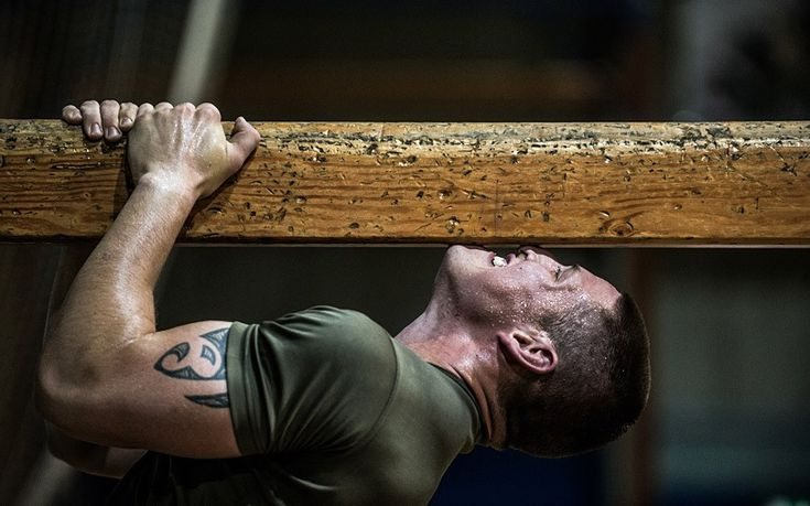 Royal Marines fitness training.
