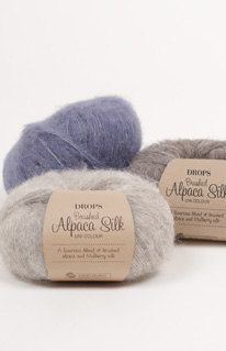 REDUCED SHIPPING SALE Drops Brushed Alpaca Silk set of 15 by abKnitwear on Etsy