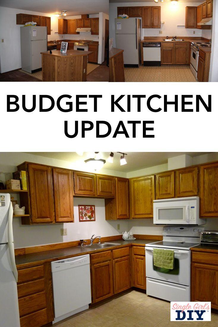 Super Thrifty Diy Kitchen Updates To Do In A Weekend Updated Kitchen Kitchen On A Budget Kitchen Diy Makeover