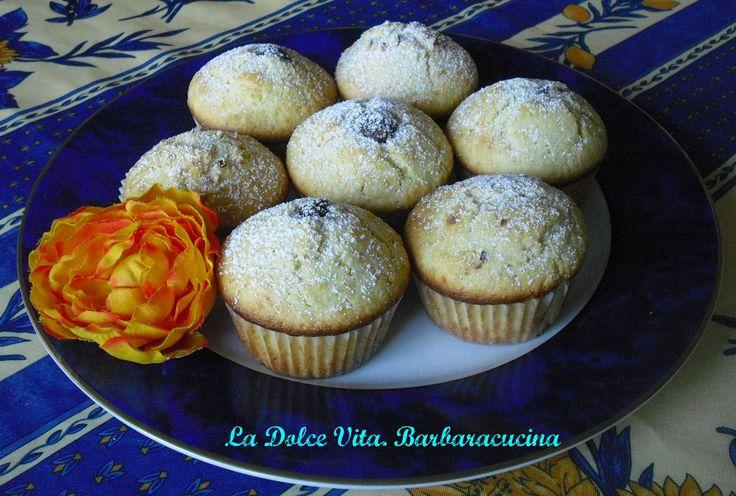 #Muffins ripieni di #nutella!! Un muffin soffice con un dolce ripieno!!