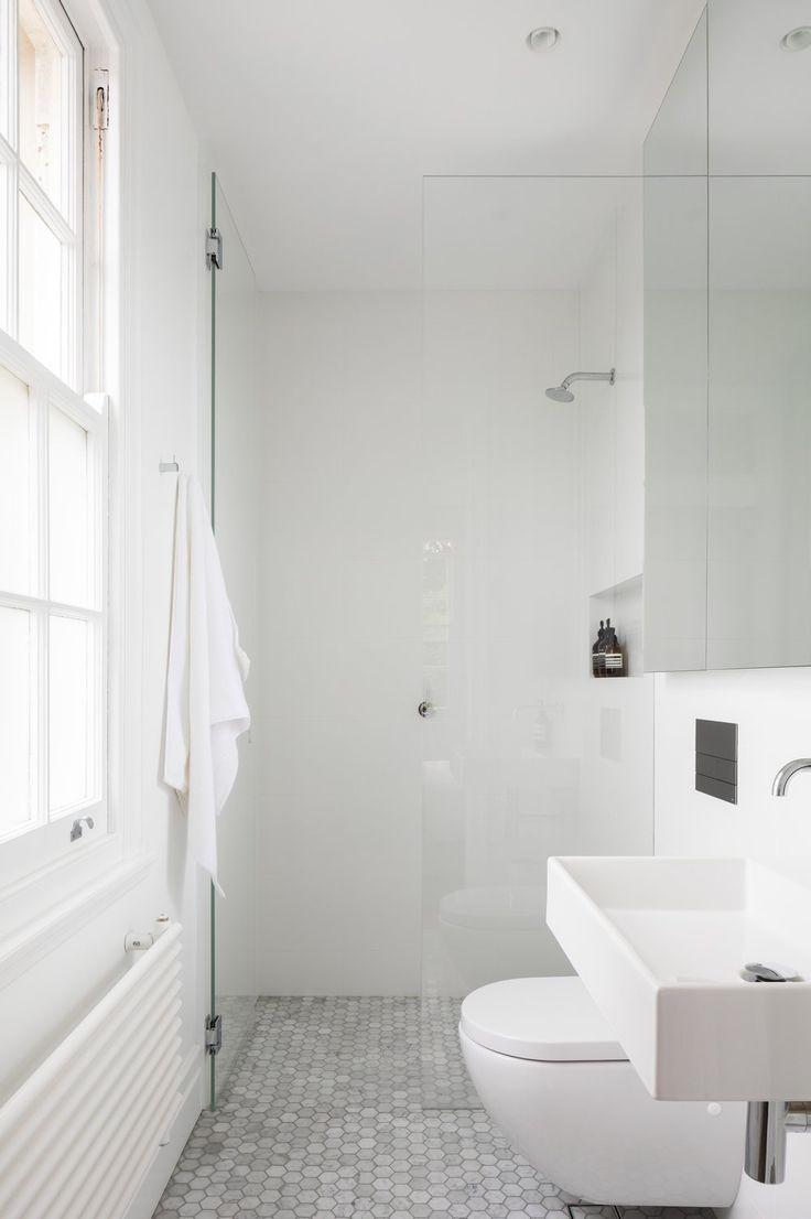 Contemporary condo bath modern bathroom chicago by jill jordan - Modern Home With Bath Room Ceramic Tile Floor Vessel Sink Wall Mount Sink