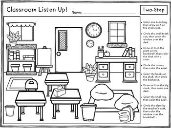 Classroom Listen Up! Following Directions FREEBIE                                                                                                                                                                                 More