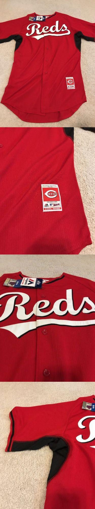 Baseball-MLB 24410: Nwt Cincinnati Reds Baseball Jersey - Authentic Majestic - Red Size 44 -> BUY IT NOW ONLY: $30.99 on eBay!