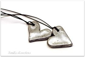 Smilemonsters: Faux Silver Hearts