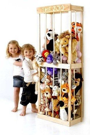 Play zookeeper. | 49 Clever Storage Solutions For Living With Kids