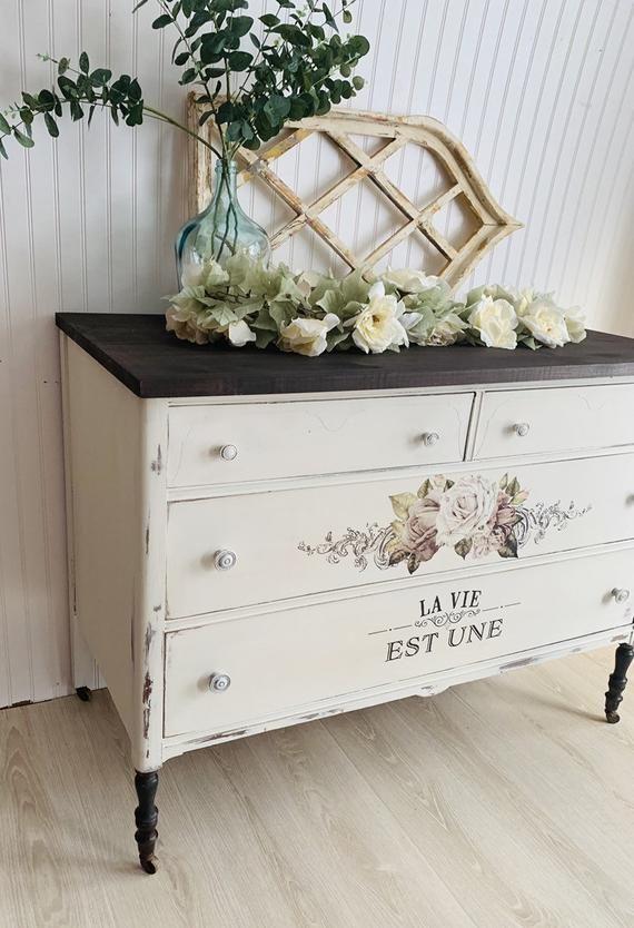 Antique Dresser Vanity Buffet Tv Stand