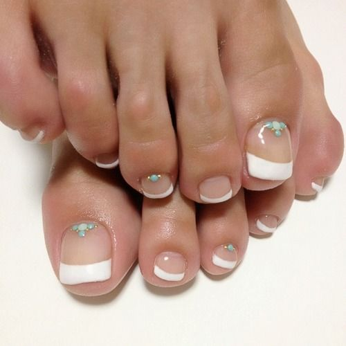 82 Best Toe French Designs Images On Pinterest