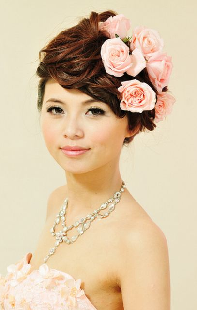 Asian Bridal Hairstyle : 95 best brides hair styles~ images on pinterest