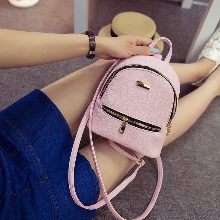 $8.59 (Buy here: https://alitems.com/g/1e8d114494ebda23ff8b16525dc3e8/?i=5&ulp=https%3A%2F%2Fwww.aliexpress.com%2Fitem%2FLEFTSIDE-2016-Women-s-Leather-Backpack-children-backpacks-mini-backpack-women-back-pack-backpacks-for-teenage%2F32691205601.html ) LEFTSIDE 2016  Women's Leather Backpack  children backpacks mini backpack women  back pack backpacks for teenage girls New Style for just $8.59