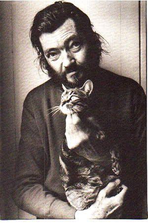 Julio Cortazar and his beloved cat.