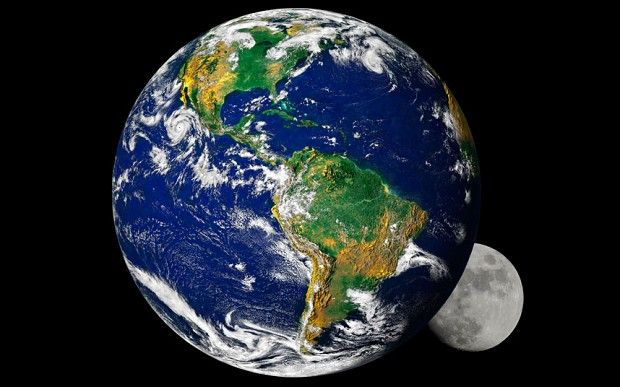 Today's Earth is made up of early Earth and the embryonic planet Theia