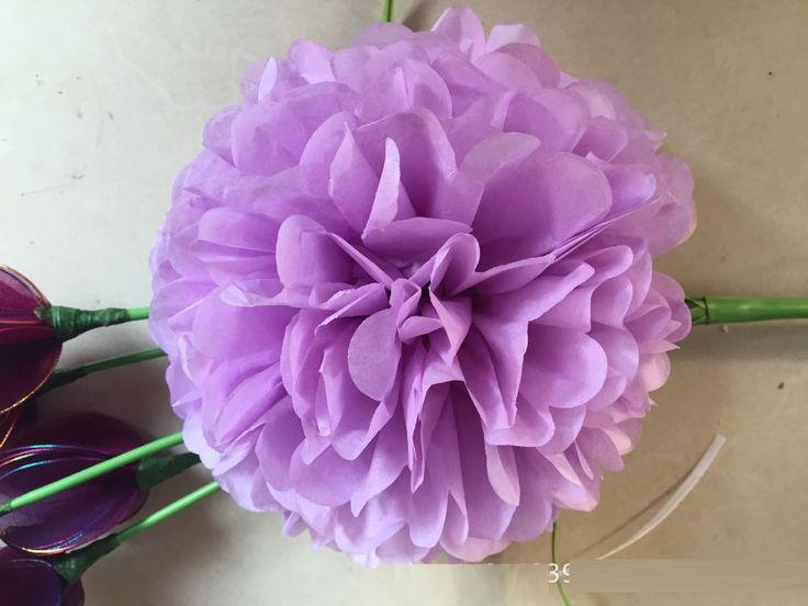 Свадьба декоративные реквизит поставляет 50 шт. смешанные 30 цветов 12 дюймов 30 см оберточной бумаги пом англичане свадьба ну вечеринку фестиваль украшения
