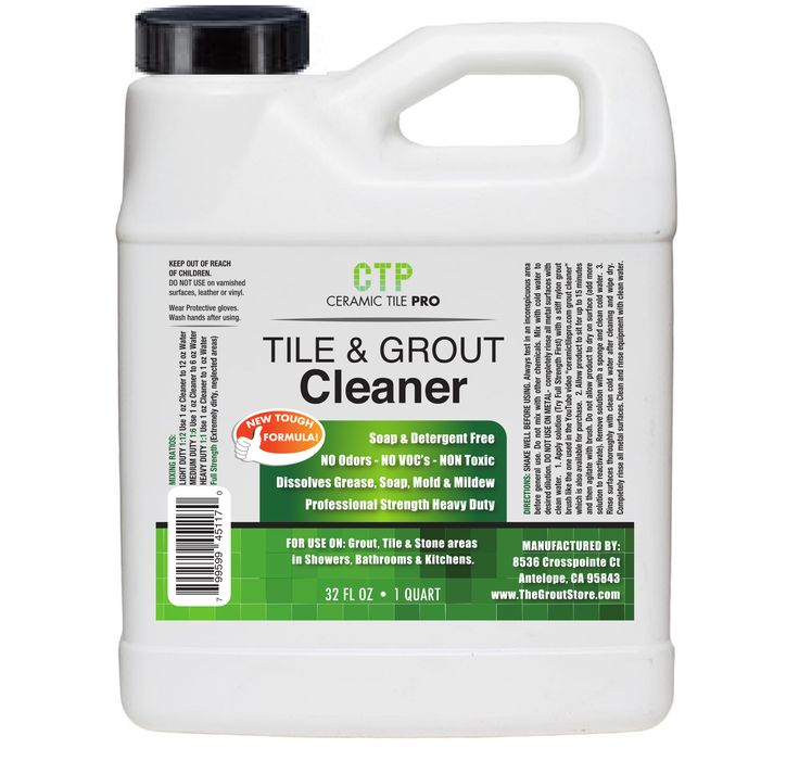 What Is The Best Cleaner For Bathroom Tile And Grout: Ceramic Tile Pro™ Tile & Grout Cleaner 32 Oz. GCL-CTP-32