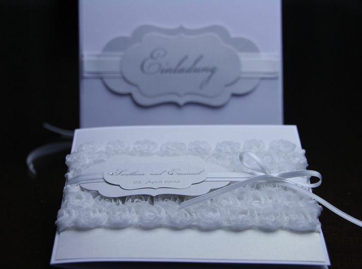 Einladungskarten   Hochzeit Rose,Spitzenband, Spitze, Edel, Rosen   Ein  Designerstück Von
