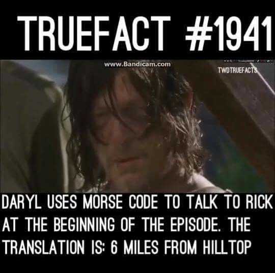 "The Walking Dead true fact.. Is that what it worked out to? Really....now I'm going back to look at other ""true facts"""