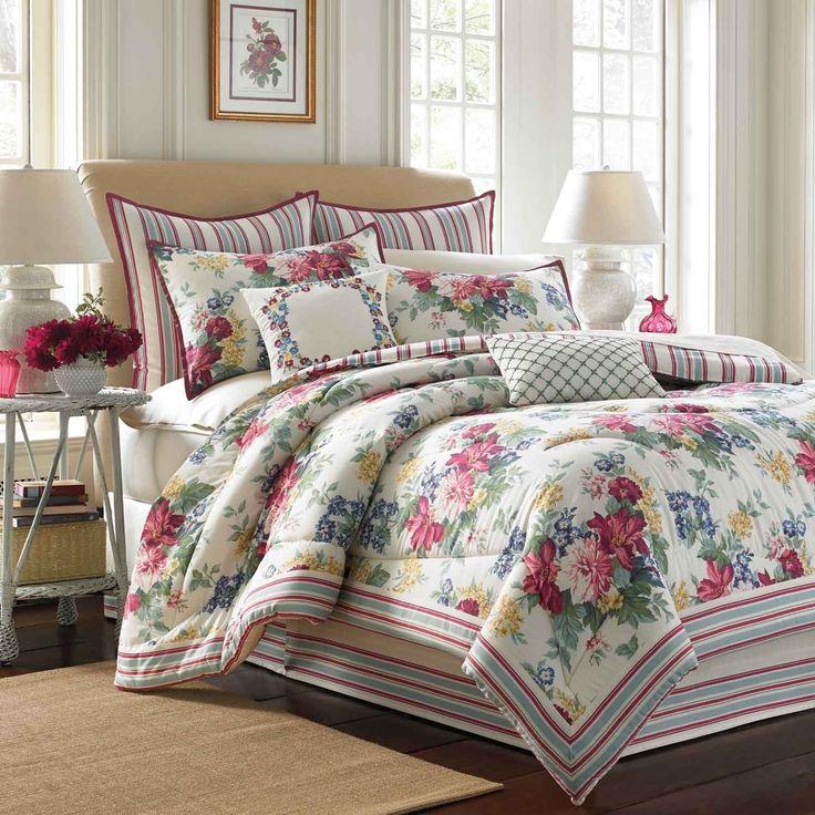 Laura Ashley Melinda 4piece Comforter Set with European
