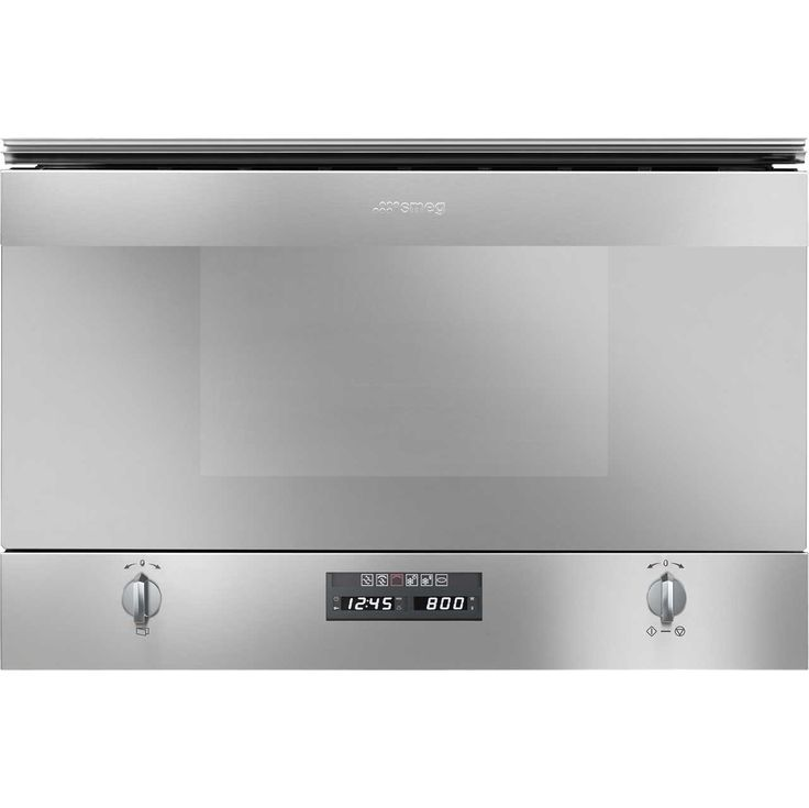 Smeg Cucina MP422X Built In Compact Microwave With Grill - Stainless Steel