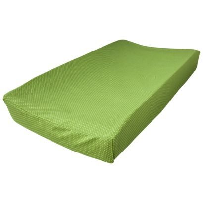 Trend Lab Changing Pad Cover Green with White Dots