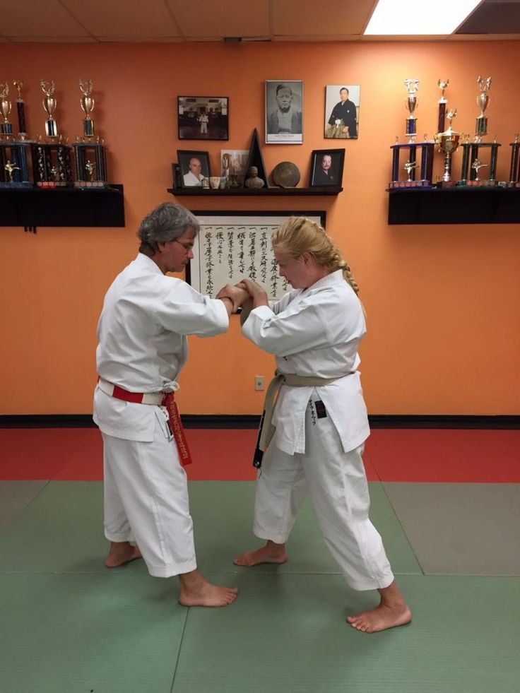 This month I am demonstrating self-defence against an across-line wrist grab, step 4.