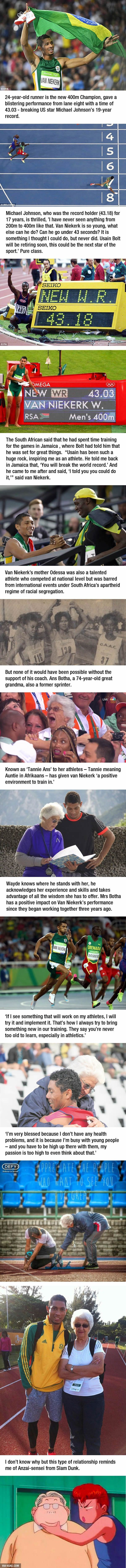 The New 400m World Record Holder Is Trained By A 74-Year-Old  Badass Granny