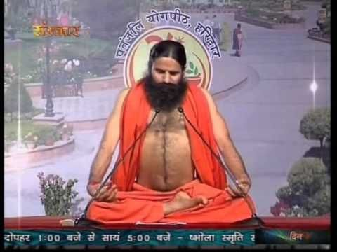 Yoga to overcome Thyroid Problem | Baba Ramdev Yoga | English - YouTube