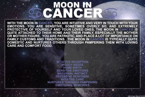CANCER MOON...Sign up here to see more: astroconnects.com #moon #moonsign #sign…