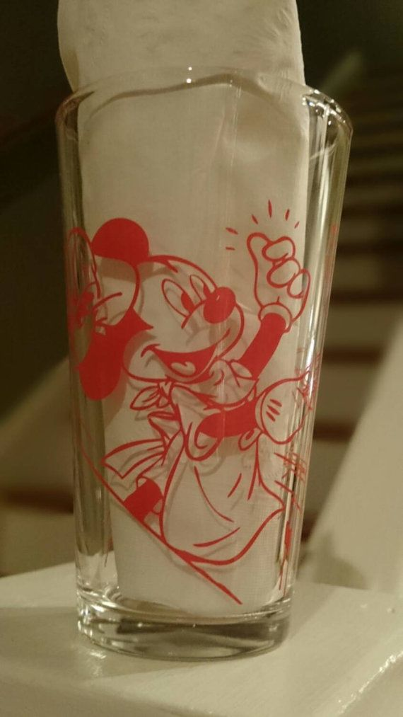 Vintage Mickey Mouse glass Counter Service by RiverwoodCottage
