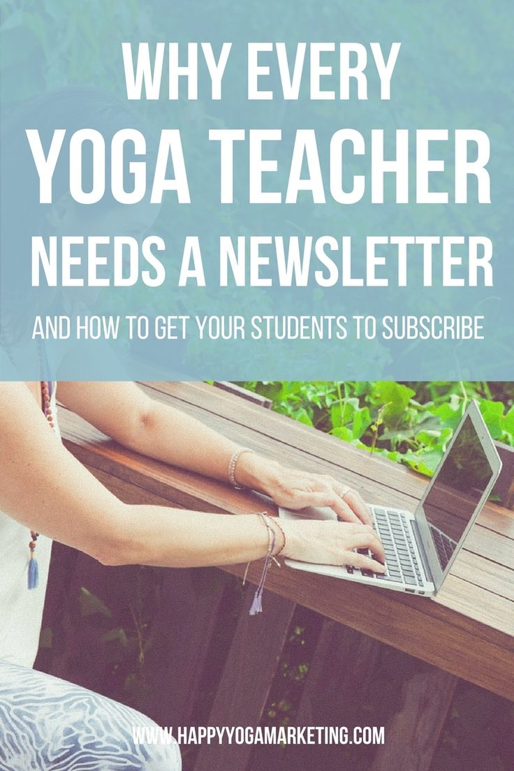 If you are a yoga teacher, then you absolutely need a newsletter. Learn why you need to start your email list today and how to get your students to subscribe. via @happyyogatravels