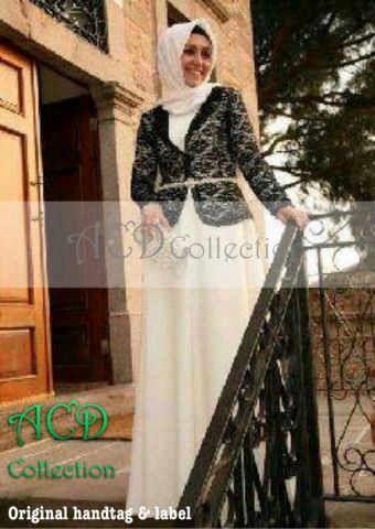 Baju Maxi Black Clara Cardi Inner