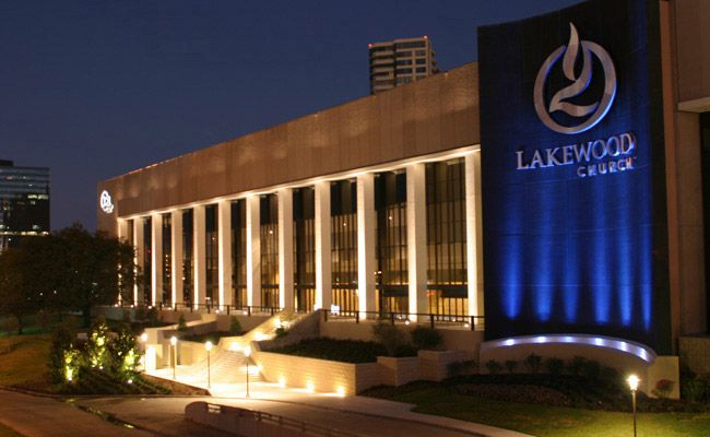 Lakewood Church in Houston, TX   Joel Osteen is the pastor and reportedly over 40,000 in weekly attendance.