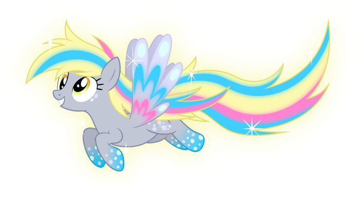 Rainbow Power Derpy by Zekrom-9 on DeviantArt