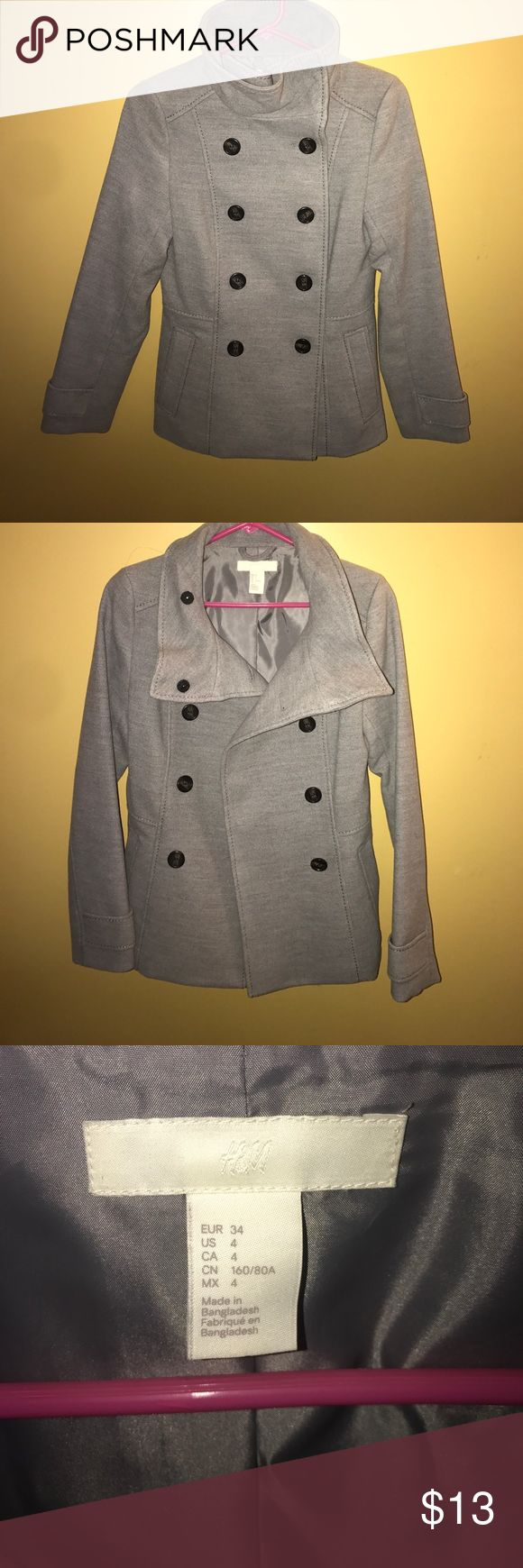 Grey pea coat Perfect condition, brand new without tags grey pea coat. Not stains or rips. Best offer 😎 H&M Jackets & Coats Pea Coats
