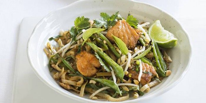 Salmon and Cashew Pad Thai   A-Z Recipes   MiNDFOOD