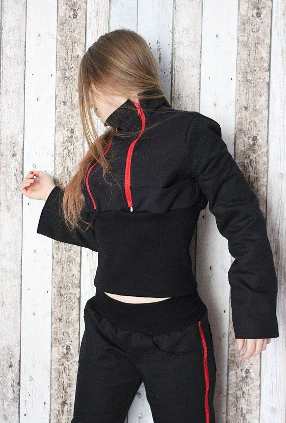 Rock Metal Women's Girl's Jacket with zips – S/M – bio eco