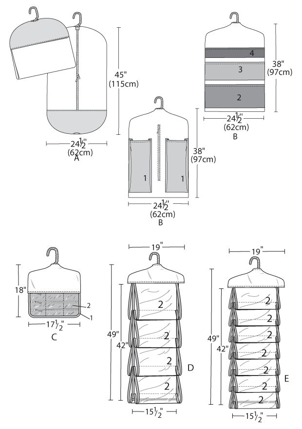 Garment Bag and Organizers