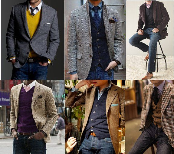 layering sports jacket coat jeans