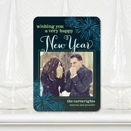 New Year Sparkle - #NewYears Cards in a deep Neptune Blue: Christmas Cards, Year Sparkle, New Year Card, Card Shape, Newyears Cards, Sparkle 14, Products, New Years