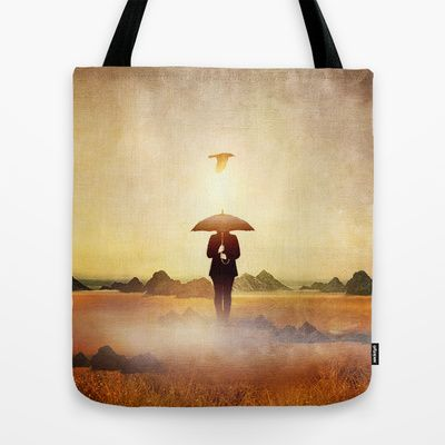 Waiting for the rain Tote Bag by Viviana Gonzalez - $22.00