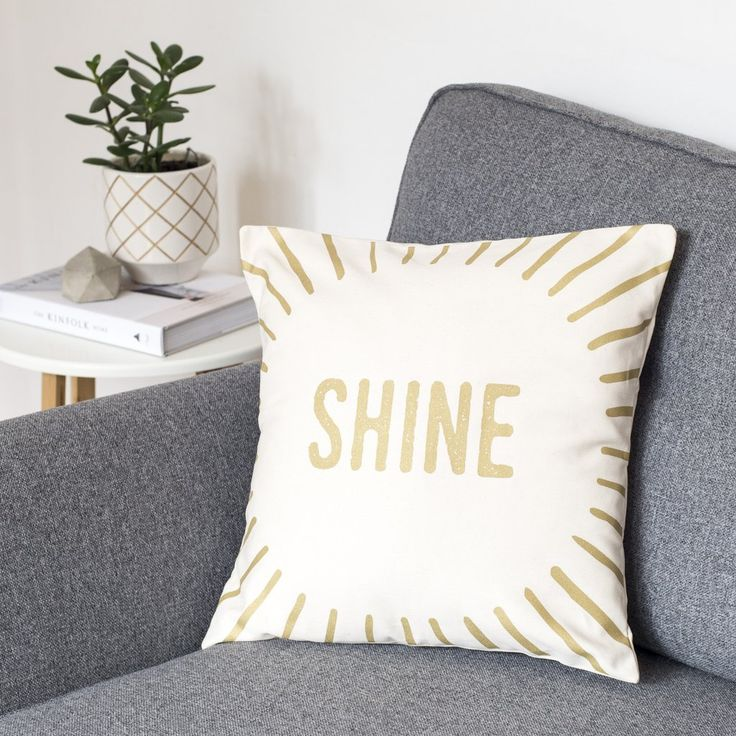 'Shine' Metallic Cushion Cover