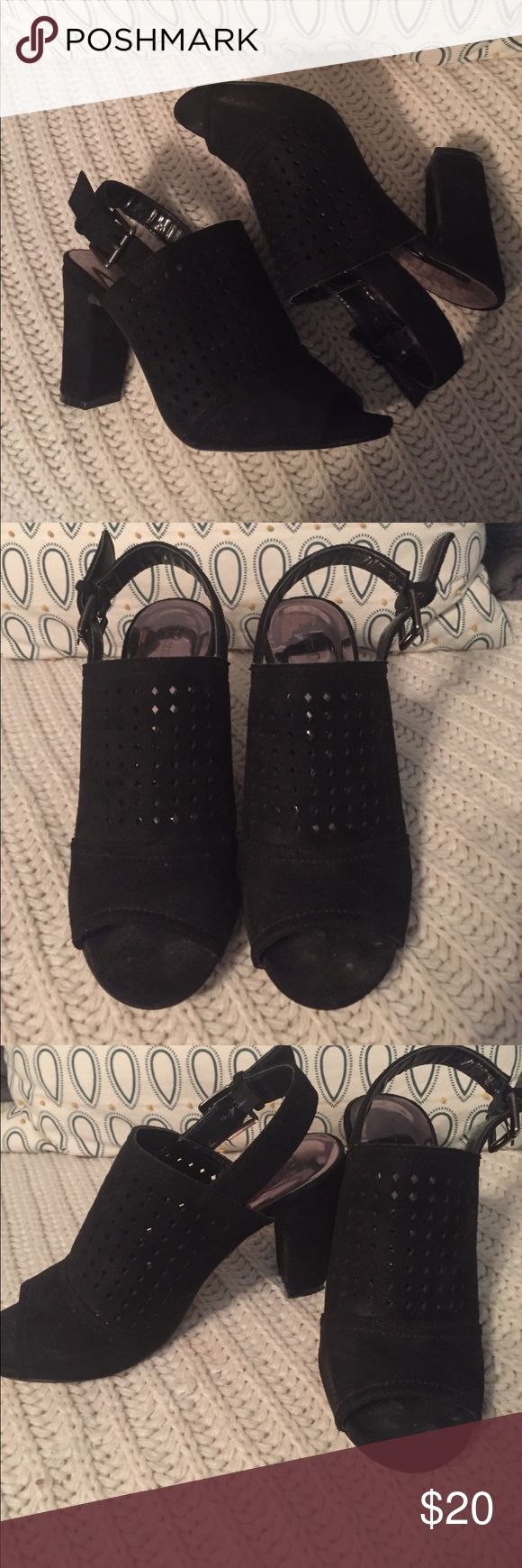 Black heels bought from Bella Bella Cute black heels bought from Bella Bella. Have been worn few times & are still in good condition. Comment below for more details. Shoes Heels