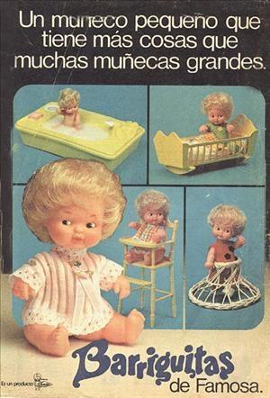 """Barriguitas:""""Un muñeco pequeño que tiene más cosas que muchas muñecas grandes""""."""