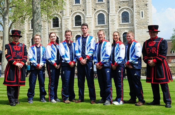 SHOOTING -  Men: Richard Brickell (pictured third right), Richard Faulds (pictured thirf left), Jonathan Hammond, James Huckle (pictured fat left), Ed Ling, Rory Warlow (pictured far right), Peter Wilson (pictured center). Women: Elena Allen, Georgina Geikie (pictured second right), Charlotte Kerwood, Jennifer Mcintosh (pictured second left)