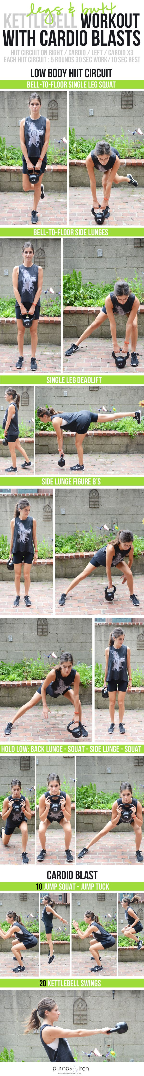 Butt & Legs Kettlebell Workout with Cardio - awesome lower body workout (and great for strengthening your back!) #GorillaGlass #sponsored https://www.kettlebellmaniac.com/kettlebell-exercises/