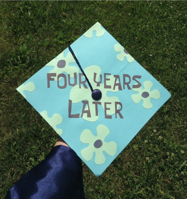 Four Years Later Spongebob inspired decorated cap  Remeber where you came from