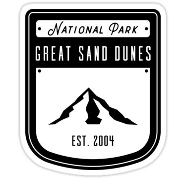 Great Sand Dunes National Park and Preserve is in southern Colorado. It's known for huge dunes like the towering Star Dune, and for the seasonal Medano Creek and beach created at the base of the dunes. The backcountry Medano Pass Primitive Road winds through a canyon toward the Sangre de Cristo mountains. Trails lead to forests, wetlands and alpine lakes like Medano Lake, which is home to trout and tundra wildlife. / america, american, united, states, usa, vintage, state, hiking, camping...
