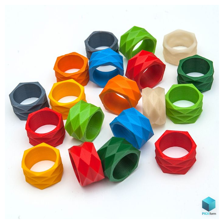 3D printed rings | cool colours