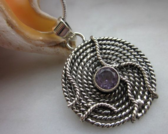 CLEARANCE 925 sterling amethyst rope twisted by artsandadornments