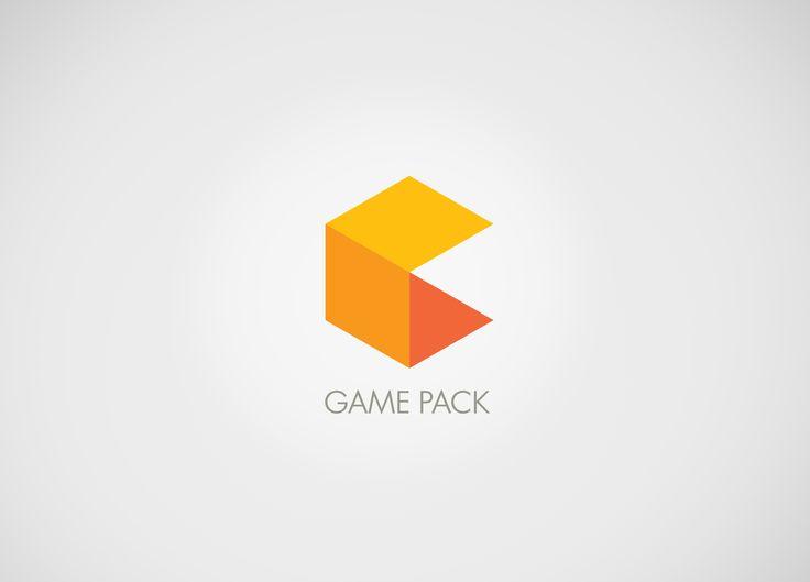 pacman + orange box = Game Pack logo