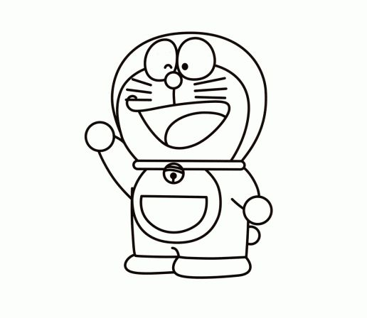 how to draw doraemon and his friends step by step