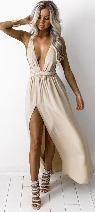 #summer #kirstyfleming #outfits | Silk Multiway Gown Nearly Naked